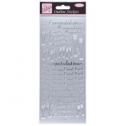 Anitas outline peel off craft stickers - Congratulations Silver