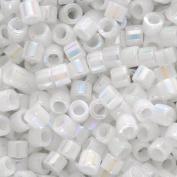 Miyuki Delica Seed Beads 11/0 White Pearl AB DB202 7.2 Grammes