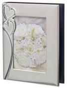 Luxury Brushed Aluminium Wedding Photo Album with Multi Pockets