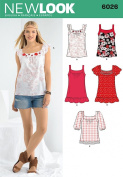 New Look A 4-6-8-10-12-14-16 Sewing Pattern 6026 Misses Tops
