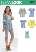 New Look A 10-12-14-16-18-20-22 Sewing Pattern 6027 Misses Tunic/ Tops