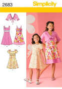Simplicity HH 3-4-5-6 Sewing Pattern 2683 Child/ Girl Dresses