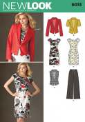 New Look A 4-6-8-10-12-14-16 Sewing Pattern 6013 Misses Separates