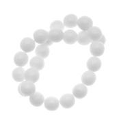 Czech Glass Druk Round Beads 8mm Opaque White