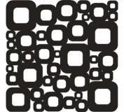 6x6 Mica Mask - Retro Squares