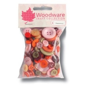 Woodware Mixed Buttons - Earthy Colours Assortment