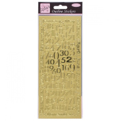 Anitas outline peel off craft stickers - Months And Numbers Gold