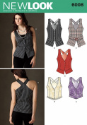 New Look A 4-6-8-10-12-14-16 Sewing Pattern 6008 Misses Vests