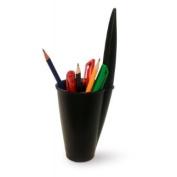 BiC Pen Lid Pen Holder Desk Top Tidy - Black - Home Office Organiser Fun Novelty