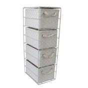 JVL 4-Drawer Storage Unit, White