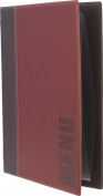 Securit Trendy Range A5 Menu Holder with 1 Double Insert, Wine Red
