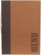 Securit Trendy Range A5 Menu Holder with 1 Double Insert, Light Brown