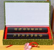 Calligraphy paper weights in dark wood 18 x 3.5cm