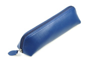 Lucrin - Pencil Case - 19 x 6 x 3.5cm - Smooth Cow Leather - Dark Taupe