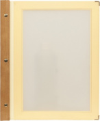 Securit A4 Menu Card with 2 Inserts, Beige Ivory