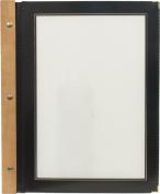 Securit A4 Wood Range Menu Card with 2 Inserts, Black
