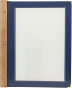 Securit A4 Wood Range Menu Card with 2 Inserts, Blue