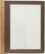 Securit A4 Wood Range Menu Card with 2 Inserts, Brown
