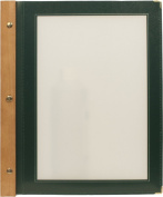 Securit A4 Wood Range Menu Card with 2 Inserts, Green