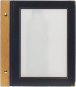 Securit A5 Wood Range Menu Card with 2 Inserts, Blue