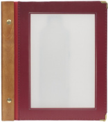 Securit A5 Wood Range Menu Card with 2 Inserts, Wine Red