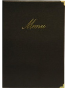 Securit Classic Range A5 Menu Holder with 1 Double Insert, Black
