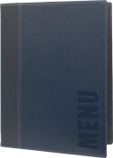 Securit Trendy Range A4 Menu Holder with 1 Double Insert, Blue