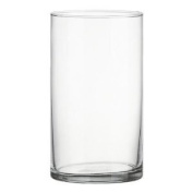 Clear Acrylic Cylinder Vase Hard Wearing Lightweight Durable Plastic 25cm High