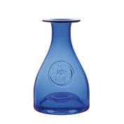 Dartington Primrose Blue Glass Flower Bottle