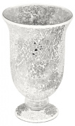 Large Mosaic Glass Hurricane Lamp in Mirrored