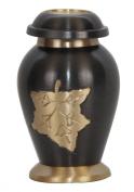 Cremation Keepsake Urns for Ashes UK - Dove Falling Leaves Memorial Brass Urn