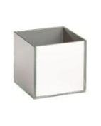 10cm Mirrored Cube - Clear