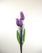 3 Head Torch - Purple - Artificial Flowers