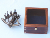 Antiqued Brass Sextant 18cm