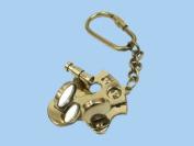 Brass Sextant Keychain 13cm