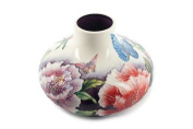 Butterfly Floral Ceramic Squat Vase 12cm Tupton Ware