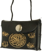 Car Hanging Black - With miniature Holy Quran