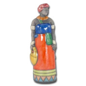 """Ceramic figures """"African woman and baby"""", large"""