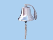 Chrome Hanging Harbour Bell 18cm