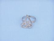 Chrome Sailboat Napkin Ring 5.1cm