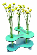 Flower vase with 3 glass cylinders blue - Werkhaus