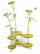 Flower vase with 3 glass cylinders yellow - Werkhaus