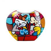Goebel Romero Britto Happy Cat Snob Dog Porcelain Vase New & Boxed
