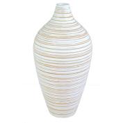Hand Carved Wooden Vase - 41cm