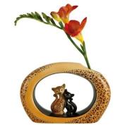 """Kitty de luxe """"Leopard"""" Kitty Porcelain Vase"""