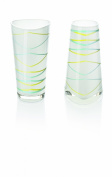 Ritzenhoff Two For You Pair of Glass Vases Design by Benazir Iskender
