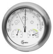 Sunartis THB367 Outside Weather Station with Stainless Steel Frame and Thermometer Hygrometer and Barometer approx. ~ 21 x 4 cm