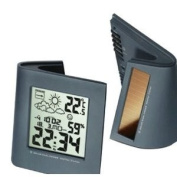 Wiki Solar Dual Powered Curved Weather Station, Black