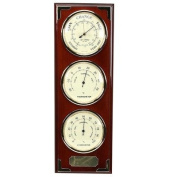 High Polished Wood Barometer/Thermometer/Hygrometer Wall Plaque