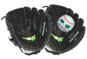 Bronx Junior Catch Set / Glove Set with Ball - Black / White, 25cm